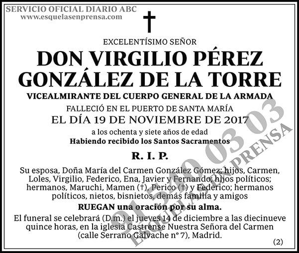 Virgilio Pérez González de la Torre